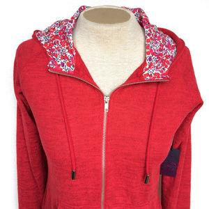 Liberty Art Fabrics NWT Hudson Bay Red Hoodie M